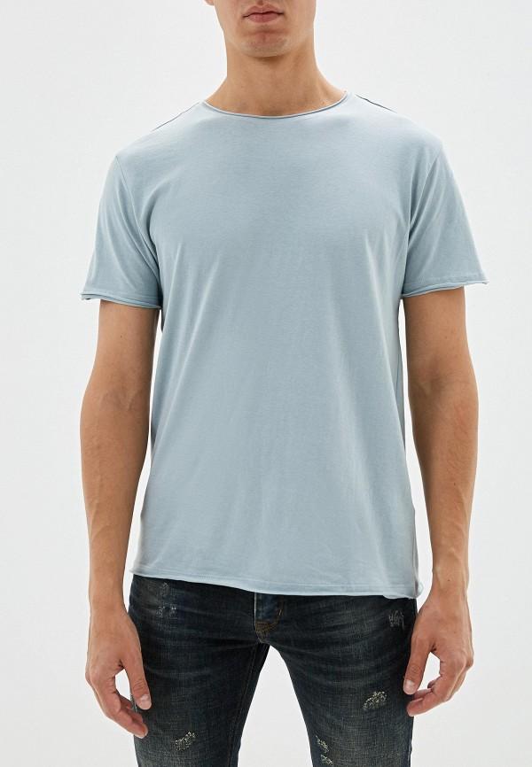 мужская футболка с коротким рукавом brave soul, голубая