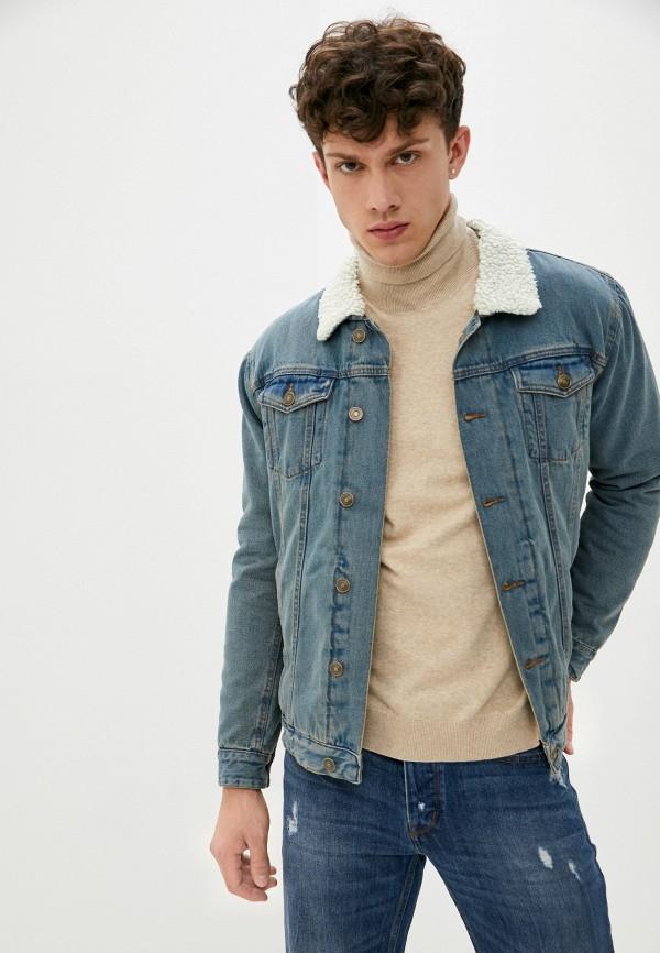 мужская джинсовые куртка brave soul, синяя