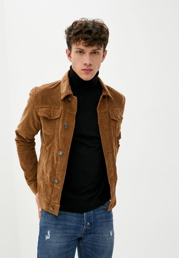 мужская джинсовые куртка brave soul, бежевая