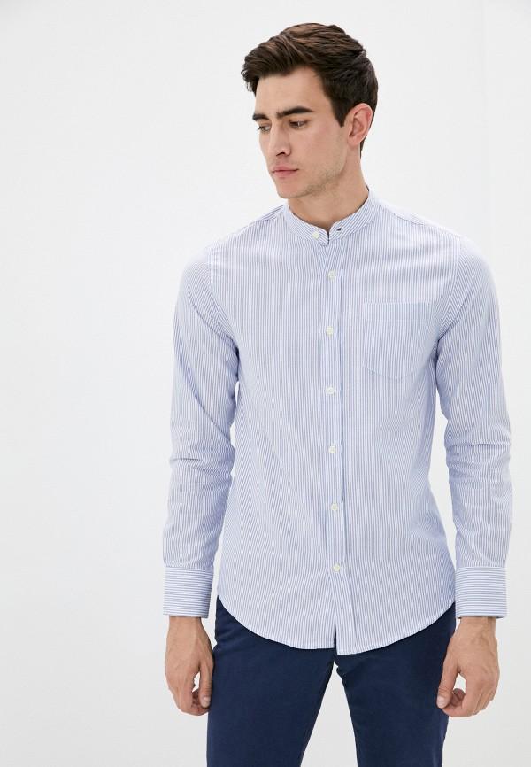 мужская рубашка с длинным рукавом brave soul, голубая