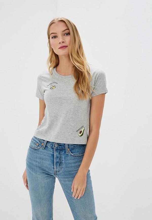 женская футболка brave soul, серая