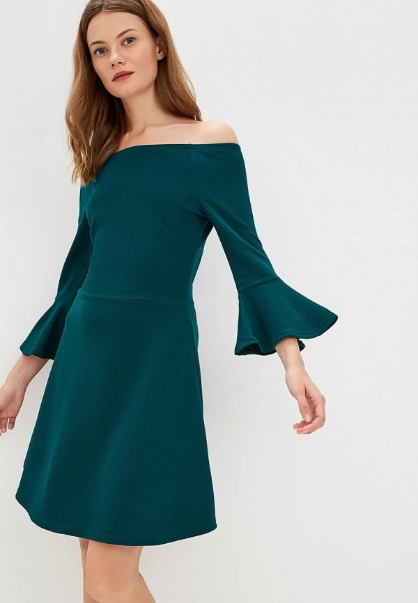Купить Платье Brave Soul, BR019EWBSNE1, зеленый, Осень-зима 2018/2019