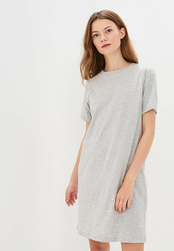 Купить Платье Brave Soul, BR019EWBSNE3, серый, Осень-зима 2018/2019