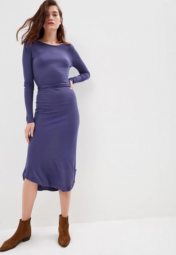 женское повседневные платье brave soul, синее