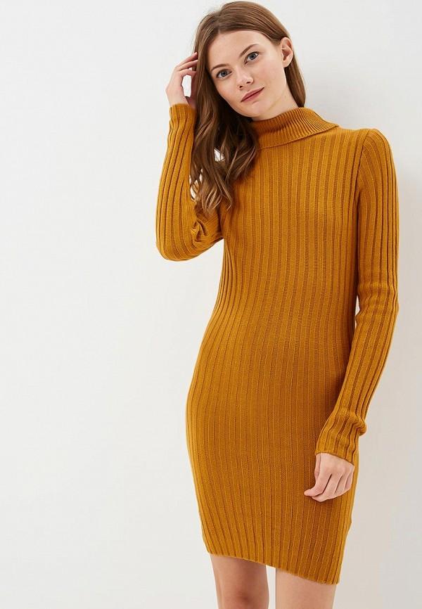 Купить Платье Brave Soul, BR019EWBSNF6, желтый, Осень-зима 2018/2019
