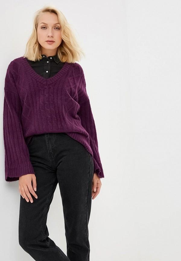 женский пуловер brave soul, фиолетовый