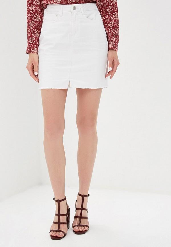 женская джинсовые юбка brave soul, белая