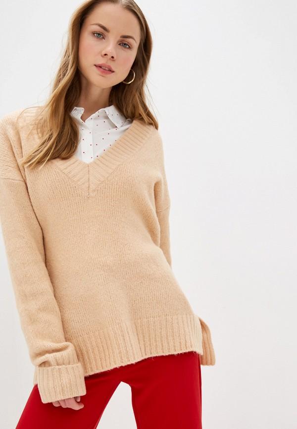 женский пуловер brave soul, бежевый