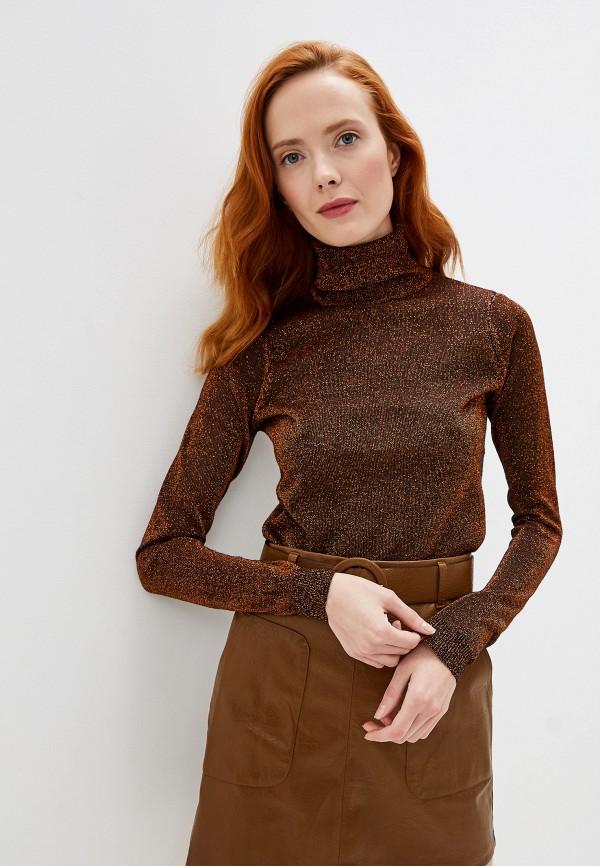 женская водолазка brave soul, коричневая