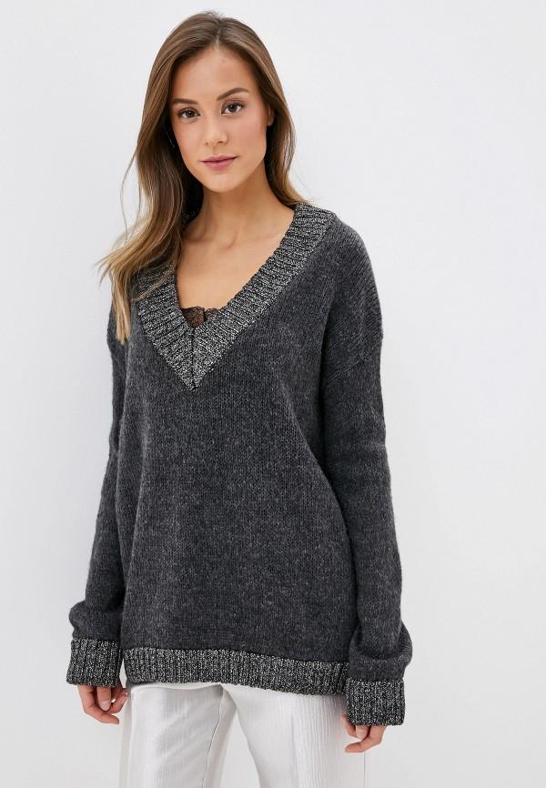 женский пуловер brave soul, серый