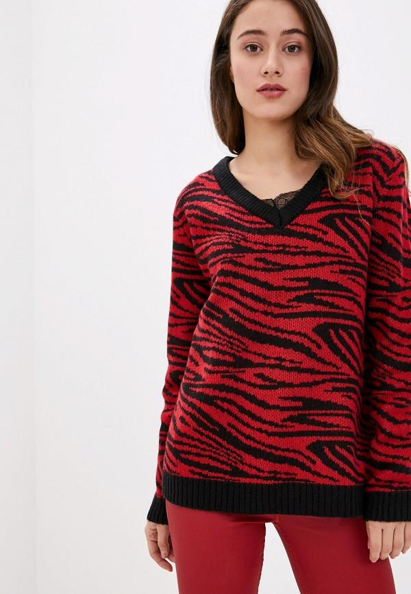 женский пуловер brave soul, красный