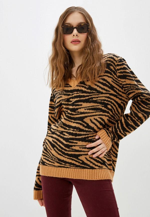 женский пуловер brave soul, коричневый