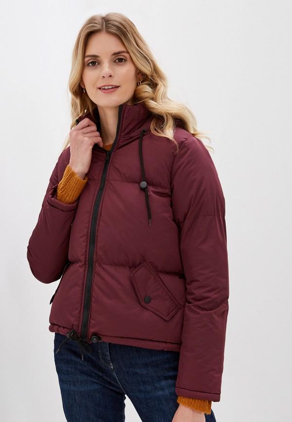 женская куртка brave soul, бордовая