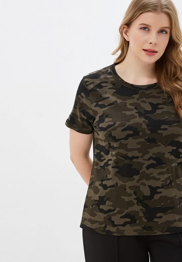женская футболка brave soul, хаки