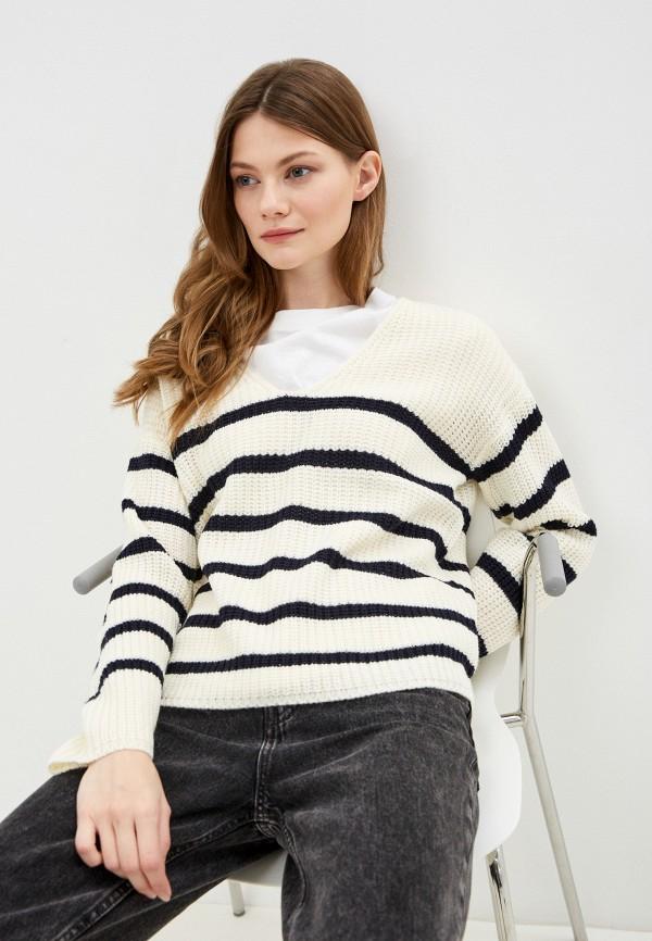 женский пуловер brave soul, белый