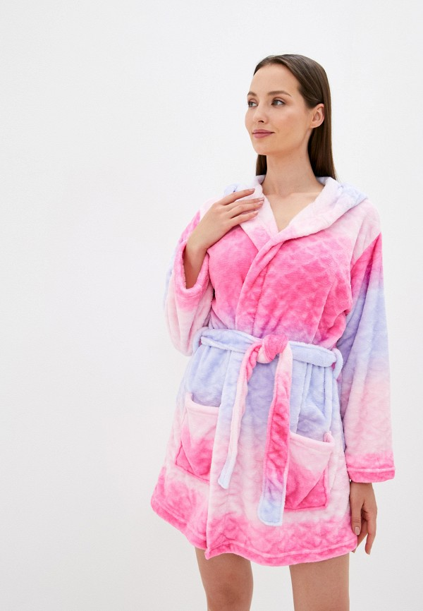 женский халат brave soul, розовый