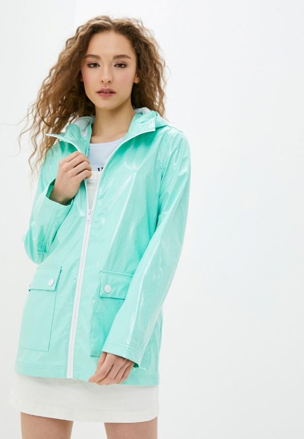 женская куртка brave soul, бирюзовая