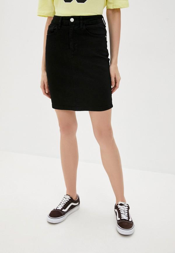 женская джинсовые юбка brave soul, черная