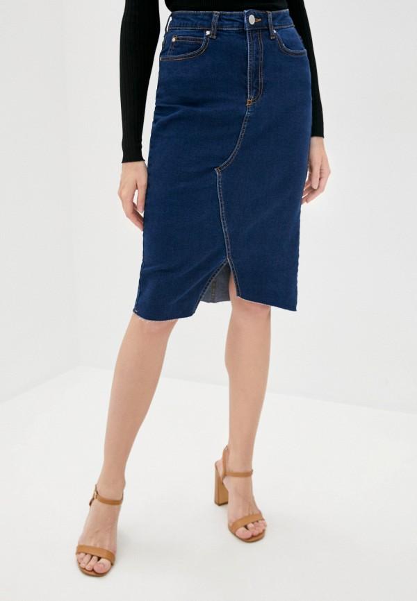 женская джинсовые юбка brave soul, синяя