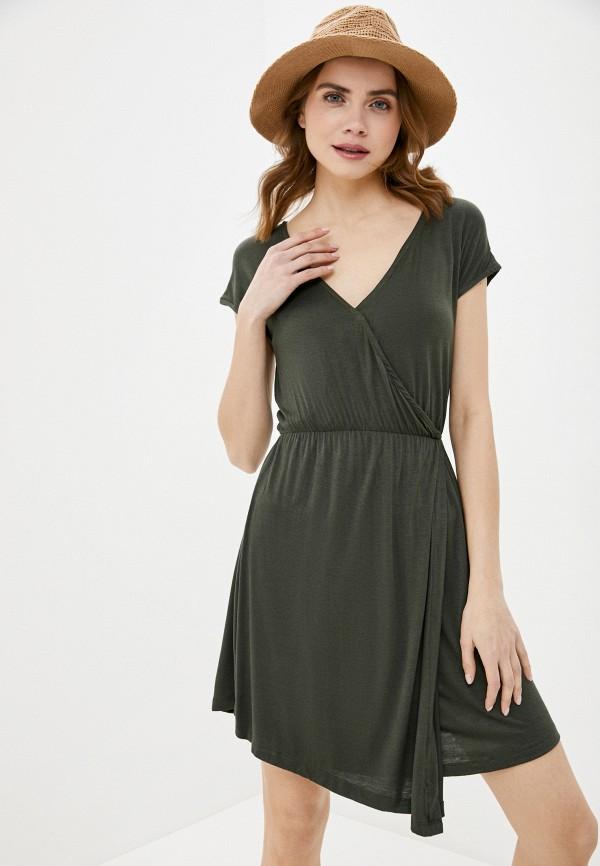 женское повседневные платье brave soul, хаки
