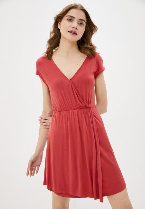 женское повседневные платье brave soul, красное