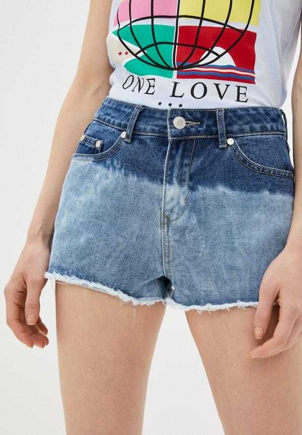 женские джинсовые шорты brave soul, голубые