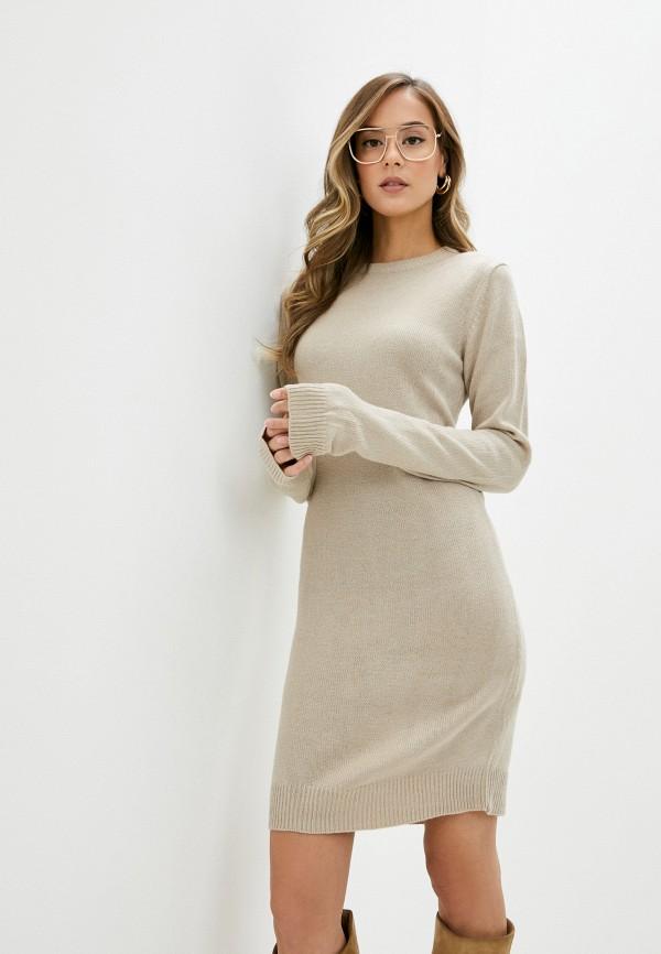 женское платье brave soul, бежевое