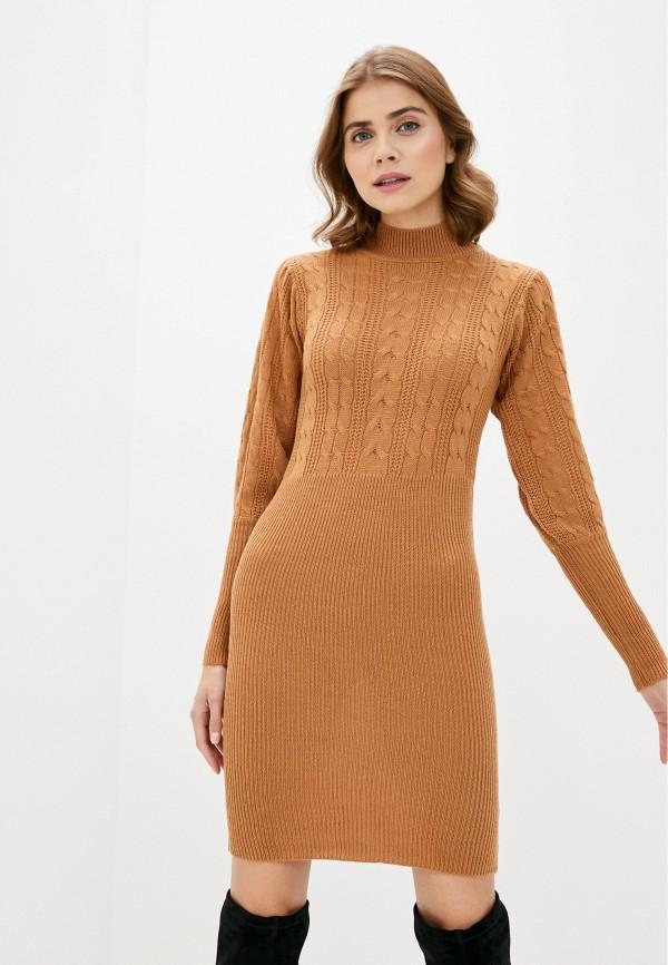 женское платье brave soul, коричневое