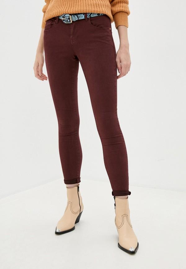 женские повседневные брюки brave soul, бордовые