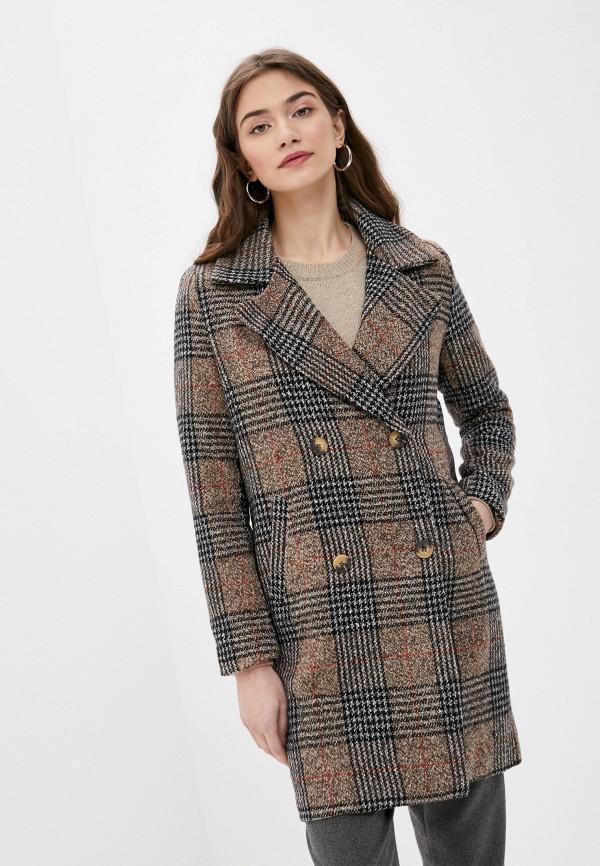 женское пальто brave soul, коричневое