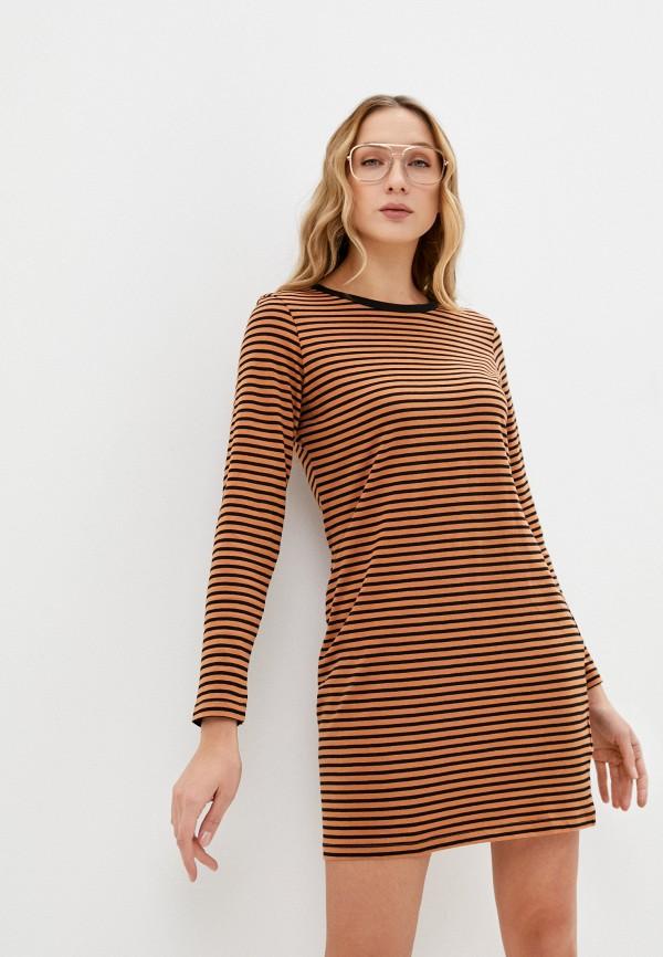 женское повседневные платье brave soul, коричневое