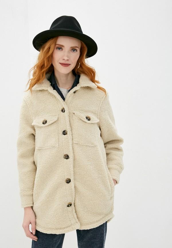 женская куртка brave soul, бежевая