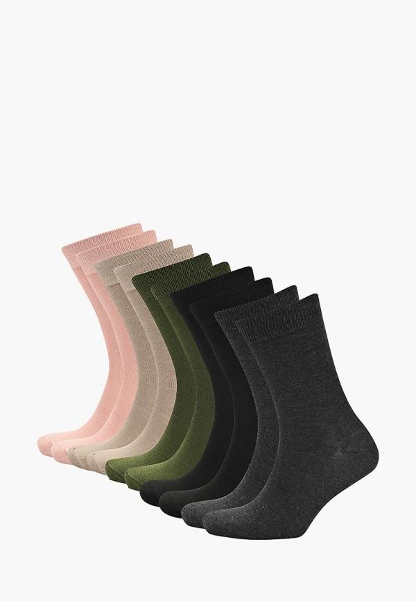 Носки  бежевый, зеленый, серый, синий, черный цвета