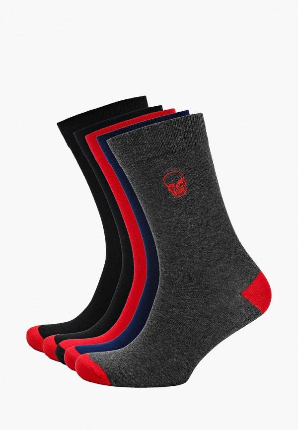 Носки  красный, серый, синий, черный цвета
