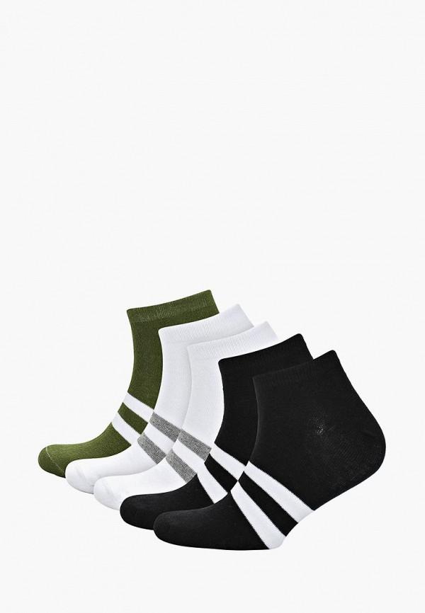 Носки  белый, зеленый, черный цвета