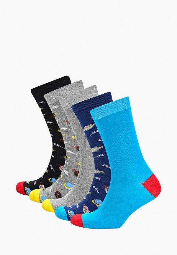 Носки  голубой, серый, синий, черный цвета