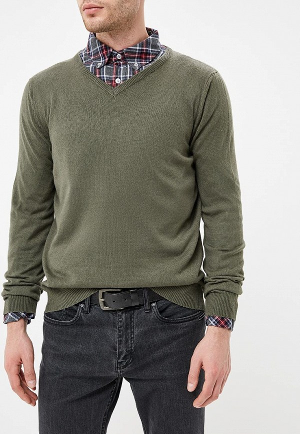 мужской пуловер bruebeck, хаки