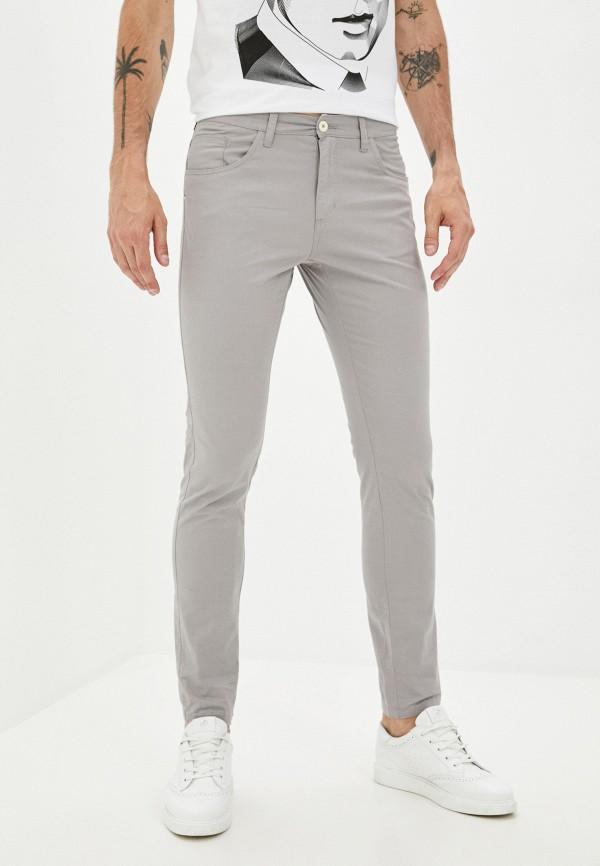 мужские зауженные брюки bruebeck, серые