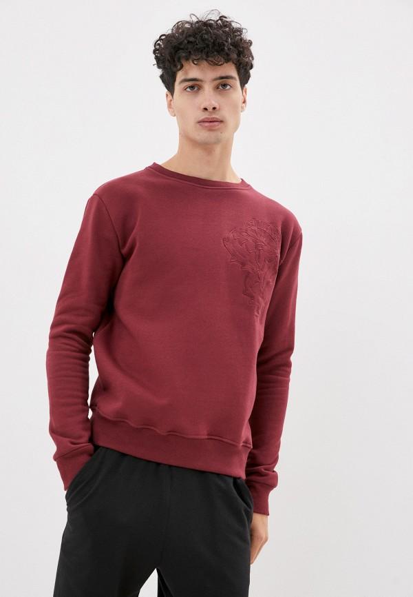 мужской свитшот bruebeck, бордовый