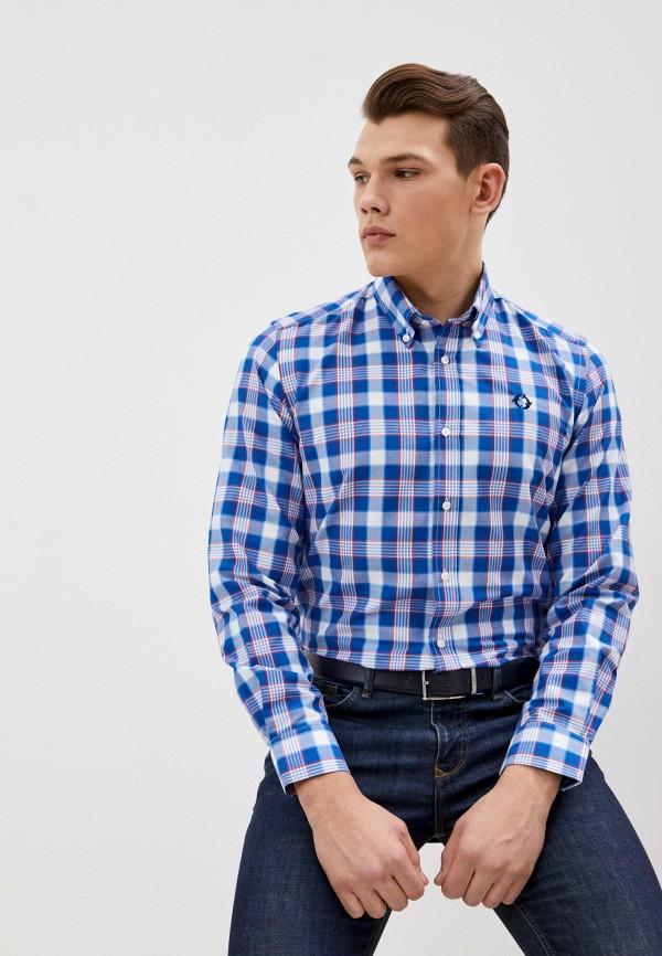 мужская рубашка с длинным рукавом bruebeck, синяя