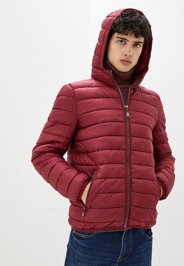 мужская куртка bruebeck, бордовая