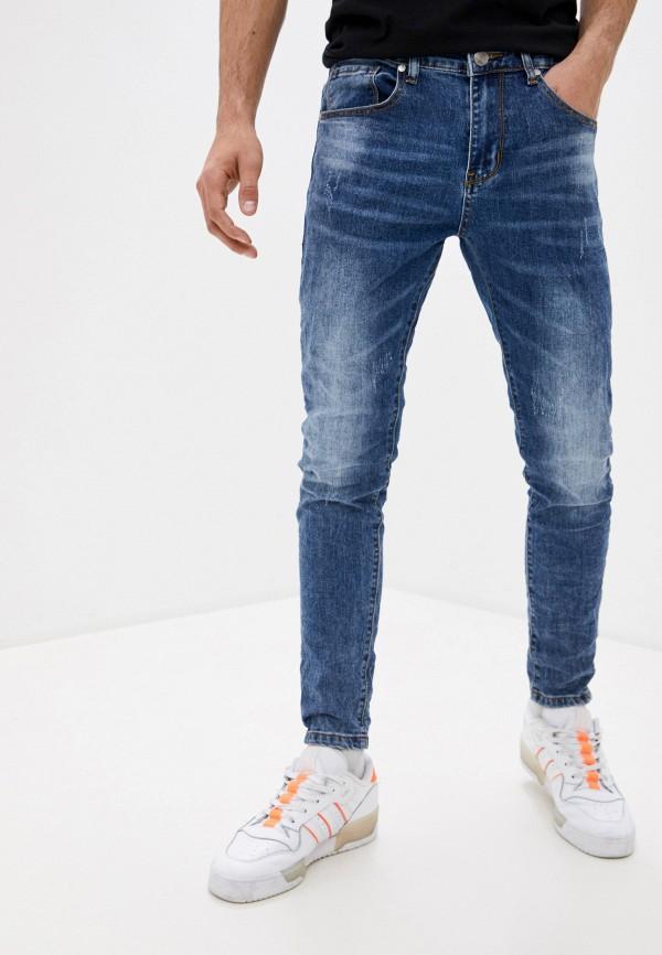 мужские зауженные джинсы bruebeck, синие