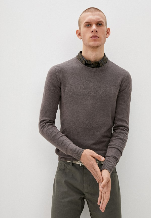 мужской джемпер bruebeck, коричневый