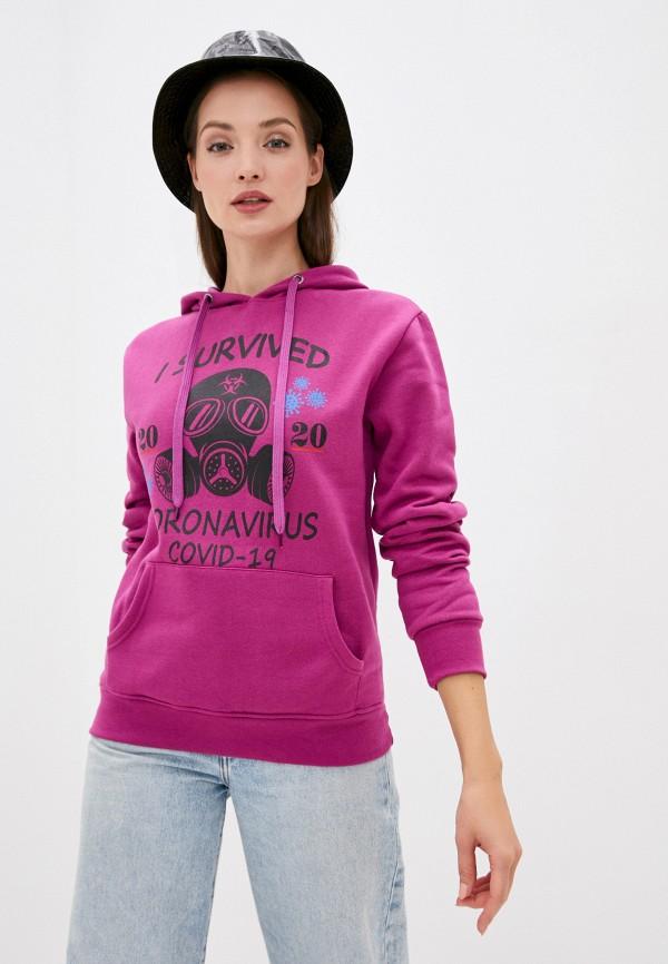 женские худи bruebeck, фиолетовые