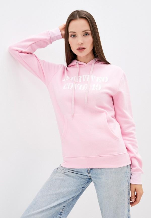 женские худи bruebeck, розовые