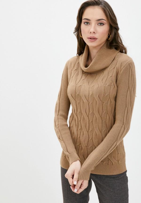 женский свитер bruebeck, коричневый