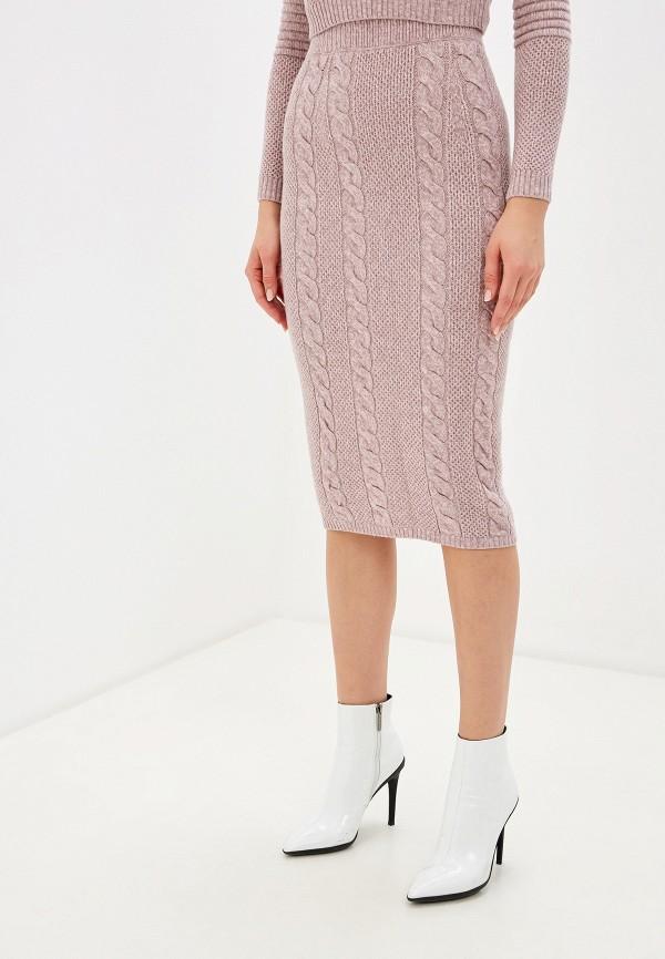женская зауженные юбка brusnika, розовая