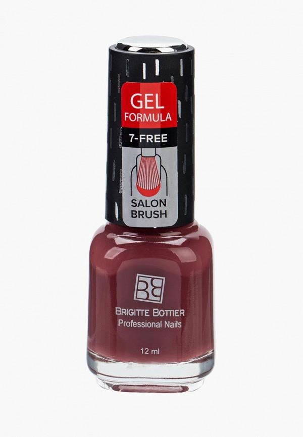 лак для ногтей brigitte bottier, бордовый