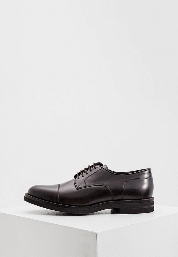 мужские туфли-дерби brunello cucinelli, коричневые