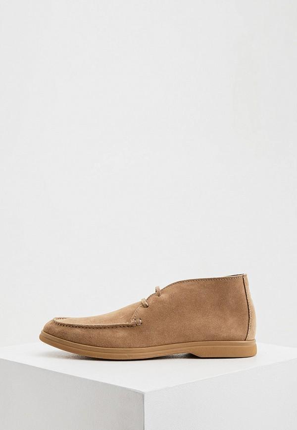 мужские низкие ботинки brunello cucinelli, коричневые